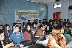 Participants listening the lecture