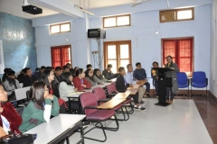 Helena Huidrom & A. Narendradhwaja Section Officer, PWD interacting on the topic
