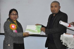 HOD of CE handing over the certificate to the resource person,Helena Huidrom