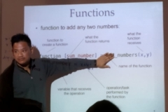 Resource person explaining functions of MATLAB