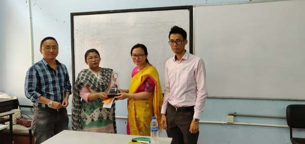 4 Presenting a memento to Smt. Th. Monica Devi (2nd from right), MU Teacher Education Department