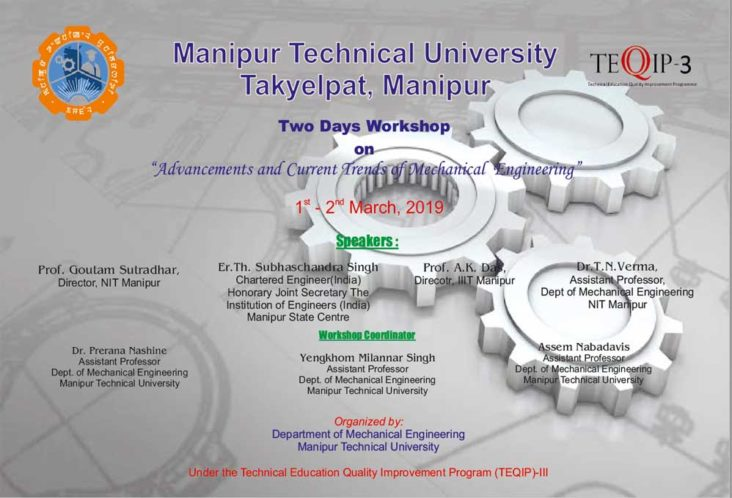 Two Days Workshop on Advancements and Current Trends of Mechanical Engineering